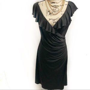 White House black market black wrap dress